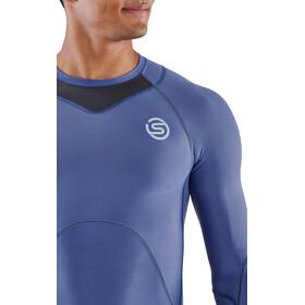 Skins Series-3 Compression LS Top Men, blauw